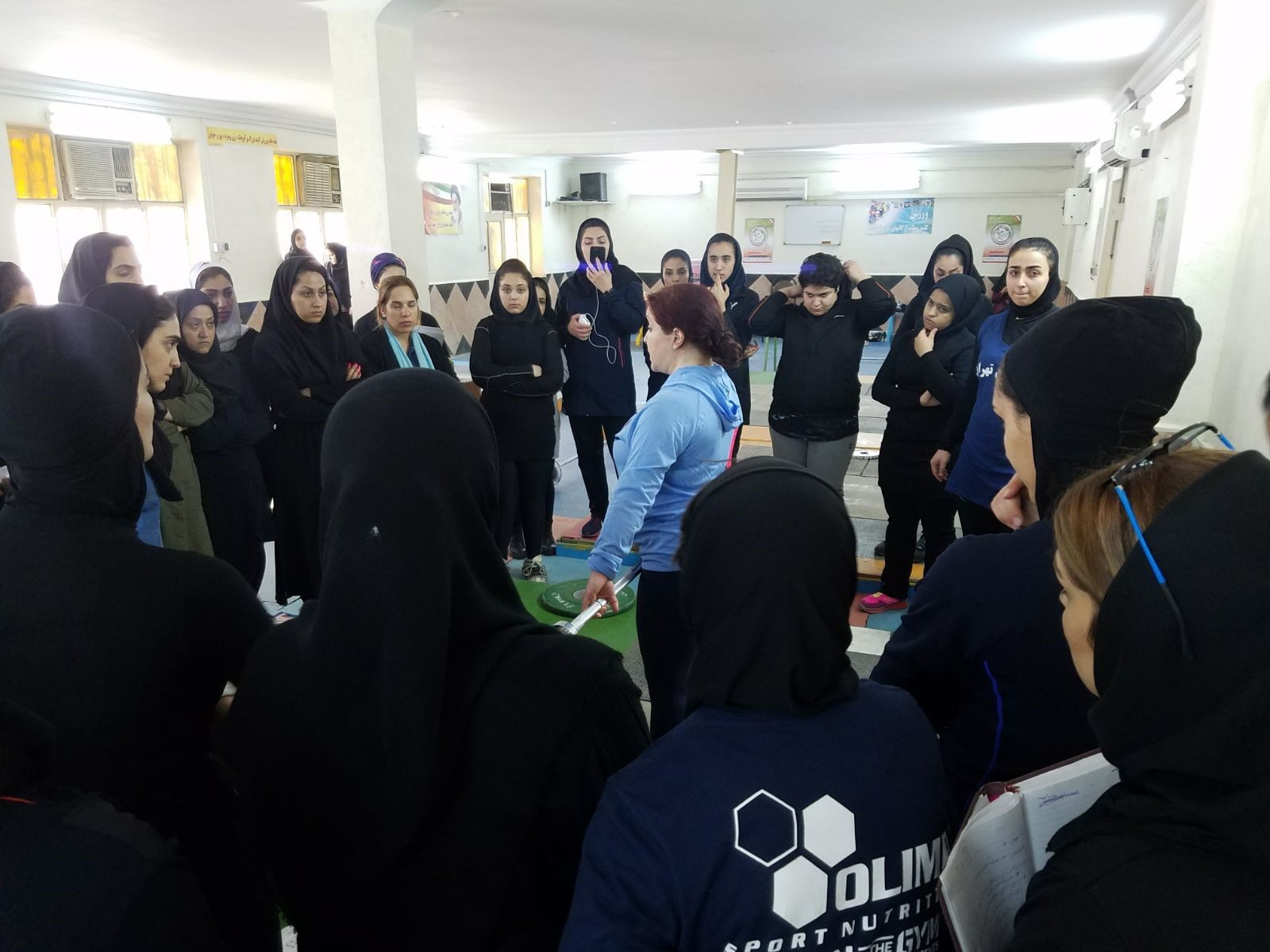 The IWF visited a training camp for female weightlifters in Iran ©IWF