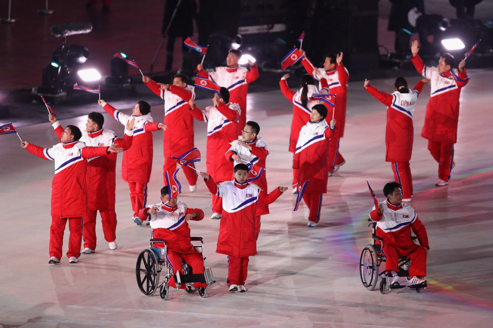 North Korea marched separately from hosts South Korea at the Opening Ceremony of the 2018 Winter Paralympics in Pyeongchang following a dispute over the unification flag ©Getty Images
