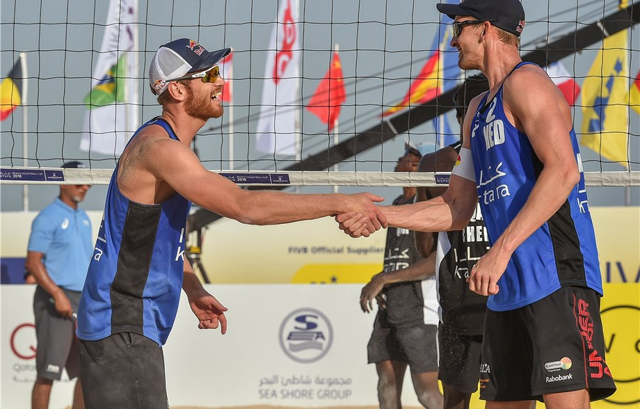 New Russian pairing to face Brouwer and Meeuwsen in final at FIVB Beach World Tour event in Doha