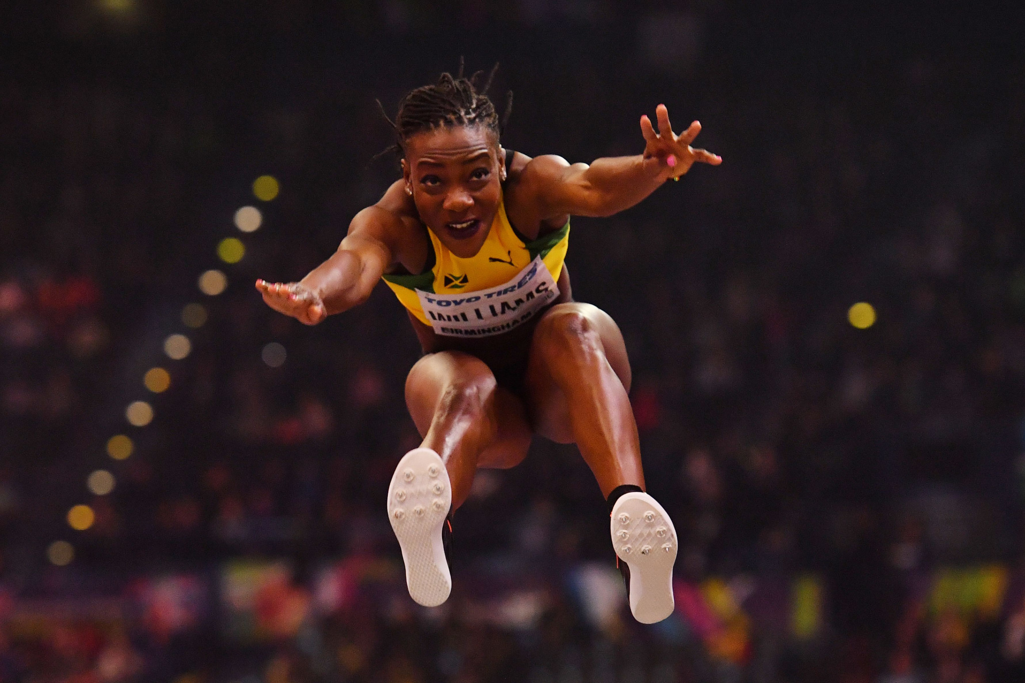 Kimberley Williams, winner of the silver medal in the triple jump at the IAAF World Indoor Championships in Birmingham, is among Jamaica's team for Gold Coast 2018 ©Getty Images