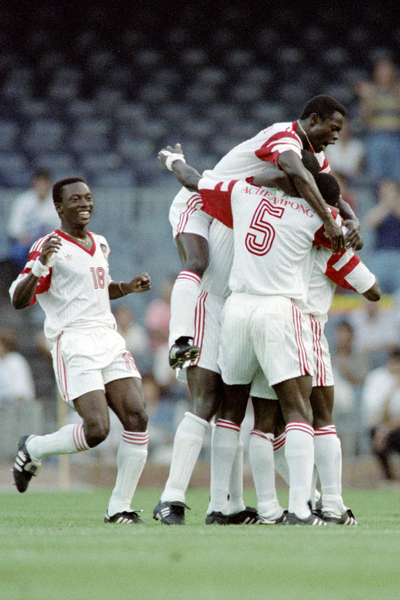Ghana won their last Olympic medal with a bronze in men's football at Barcelona 1992 ©GOC