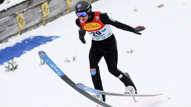 Germany's Jarl Riiber led after the provisional ski jumping round at the FIS Nordic Combined World Cup ©FIS