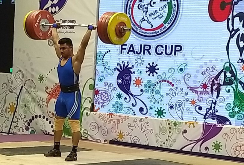 Iran's Seyed Mousavi was the winner of the 94kg category at the Fajr Cup ©Brian Oliver
