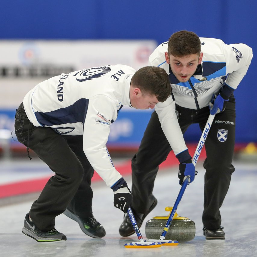Scotland's men reached tomorrow's final at the World Junior Curling Championships in Aberdeen ©Twitter