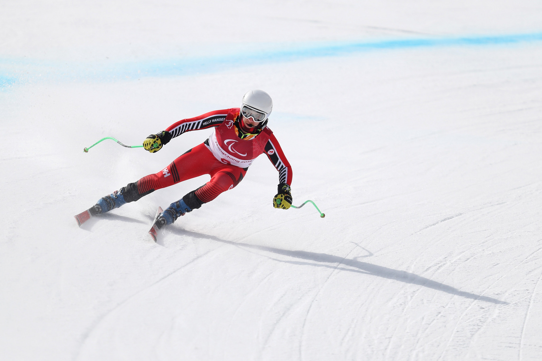 Canada's Mac Marcoux came out on top in the men's visually impaired event ©Getty Images
