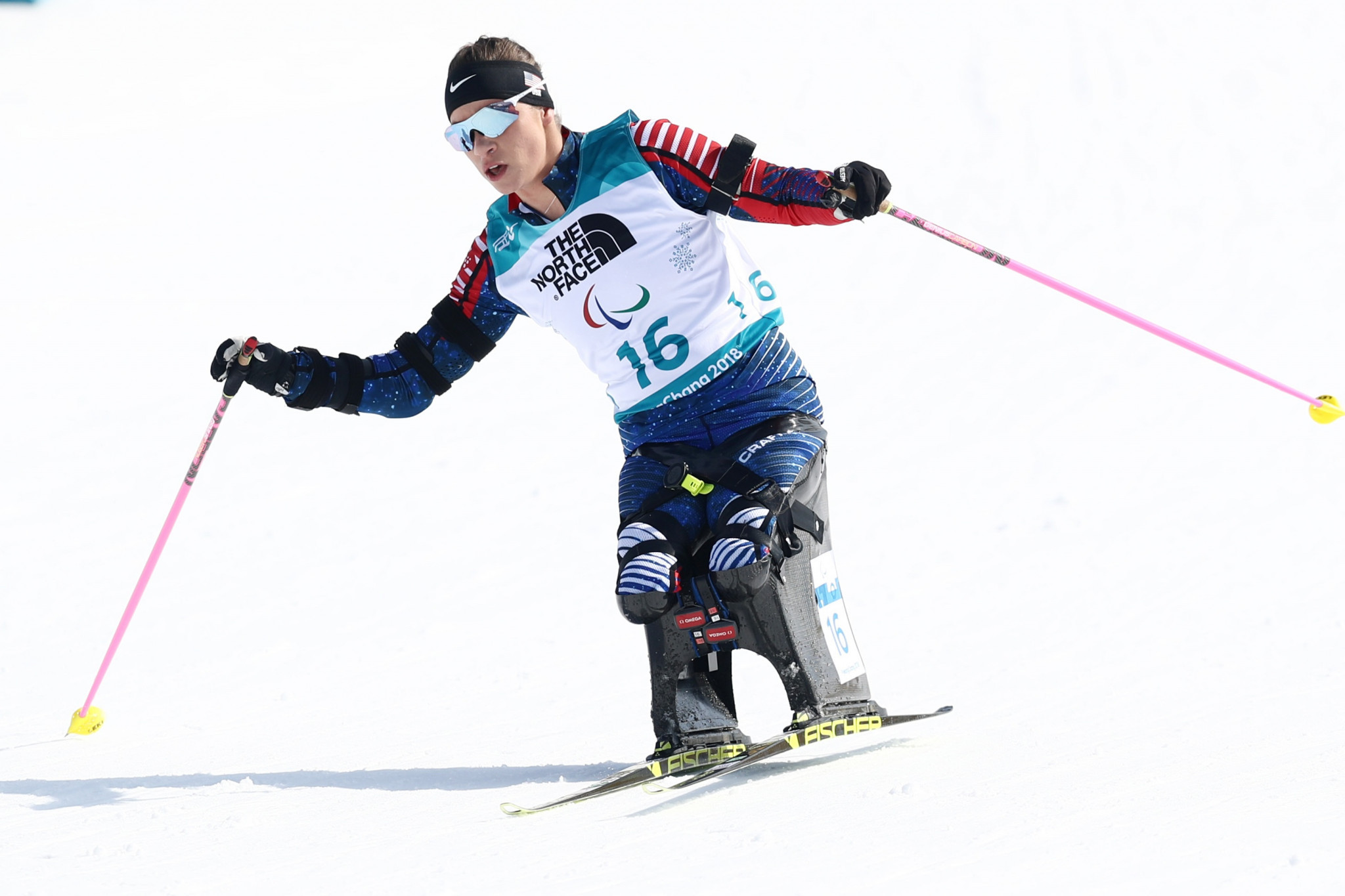 American cross-country skier and biathlete Oksana Masters is also among the trio of athletes