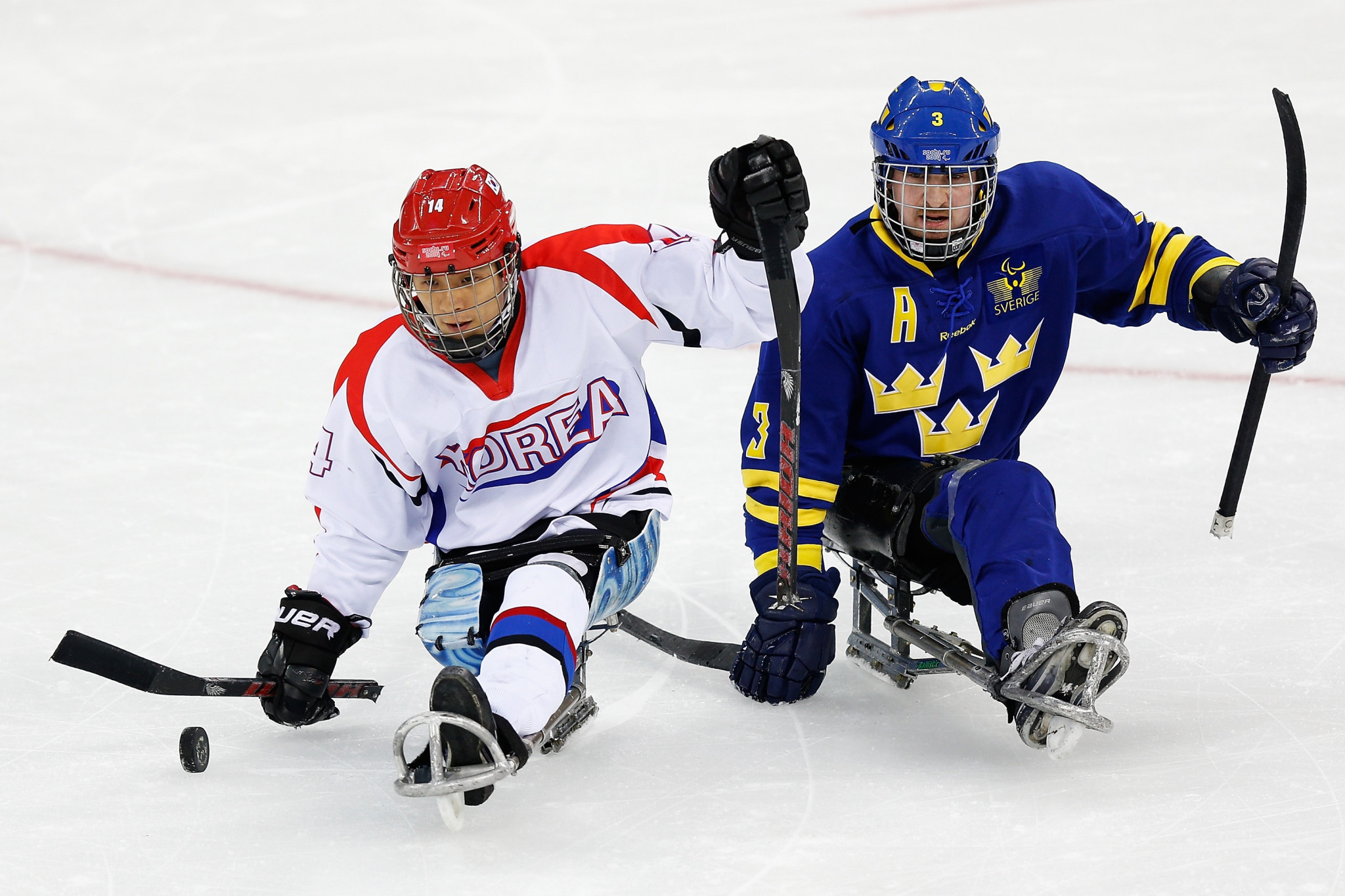 South Korean ice hockey player Seung-Hwan Jung completes the line-up ©Getty Images