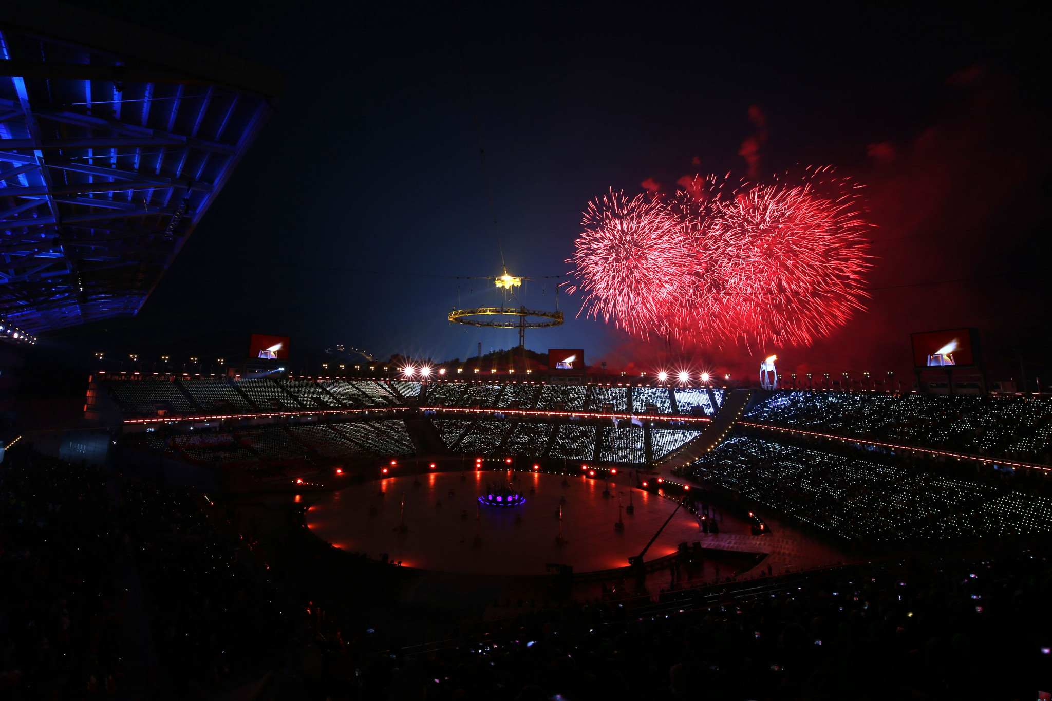 WiFi and television screens were disabled during last month's Opening Ceremony due to a hack ©Getty Images