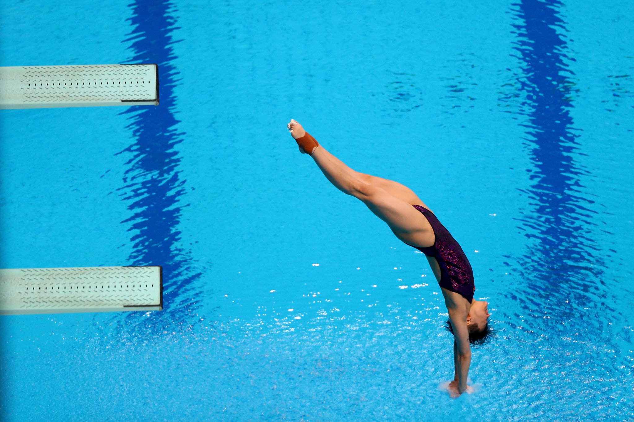 China's Shi Tingmao won the women's 3m springboard title today ©Getty Images