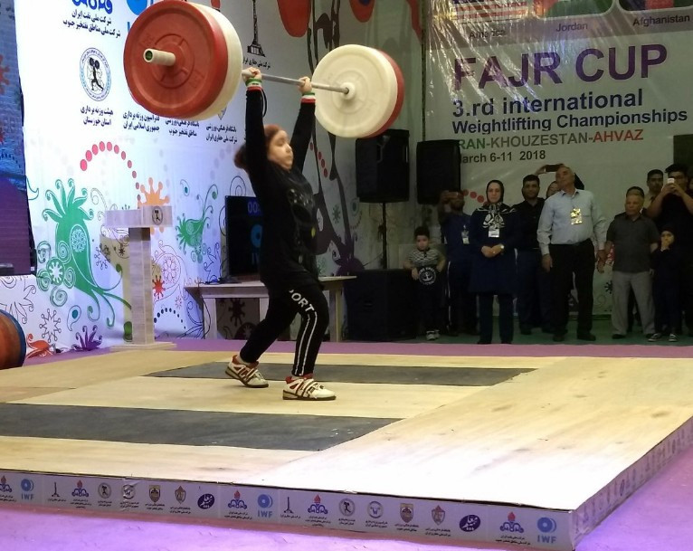 Schoolgirls upstage Georgian super-heavyweight on historic day for weightlifting in Iran