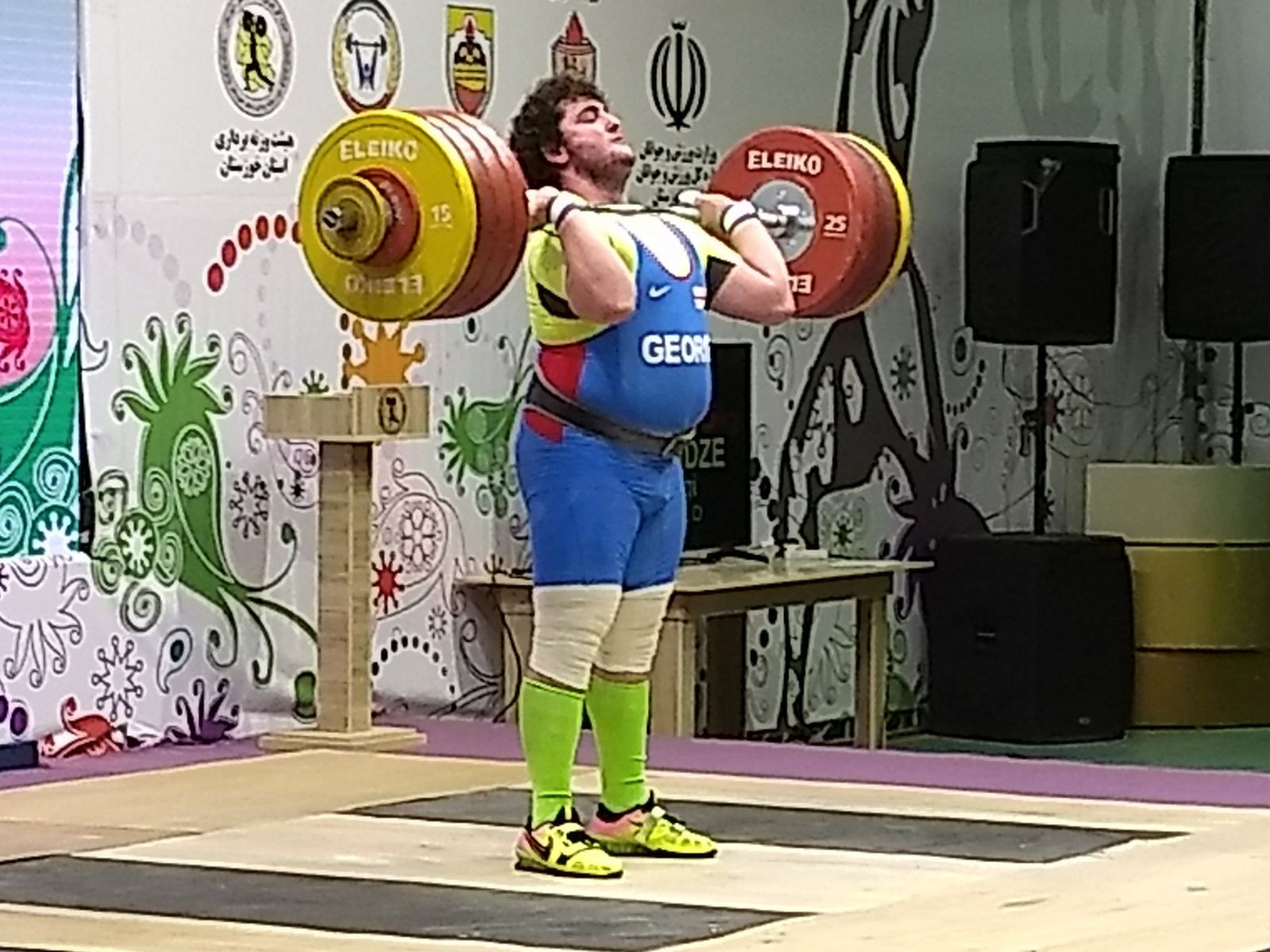 Georgia's Giorgi Chkheidze won the over 105kg category ©Brian Oliver