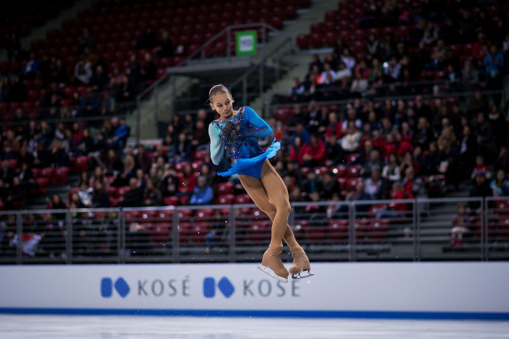 Russia's 13-year-old Alexandra Trusova produced a historic win in the ISU World Junior Figure Skating Championships in Sofia ©ISU