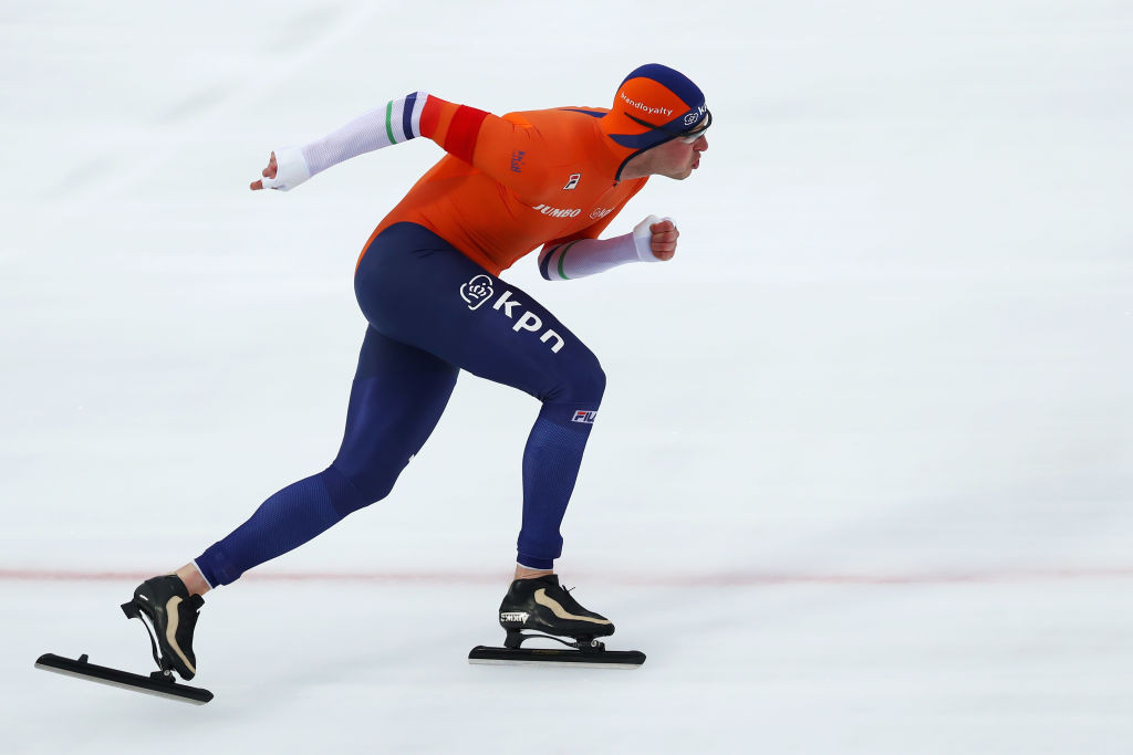 Dutch speed skating legend Sven Kramer, seeking his 10th successive win at the ISU Allround Speed Skating Championships in Amsterdam, faces an uphill task as he is only third at the halfway point ©ISU