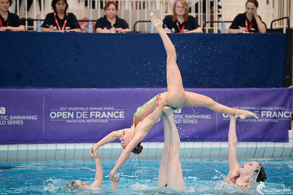 Italy and Ukraine took over the gold medal position from Russia on the second day of the FINA Artistic Swimming World Series in Montreuil ©FINA