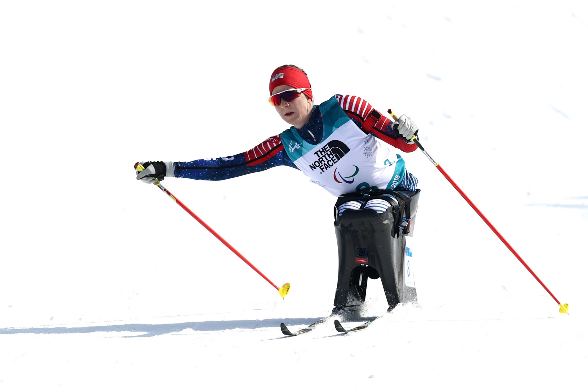Kendall Gretsch claimed silver behind compatriot Oksana Masters in the women's sitting competition ©Getty Images