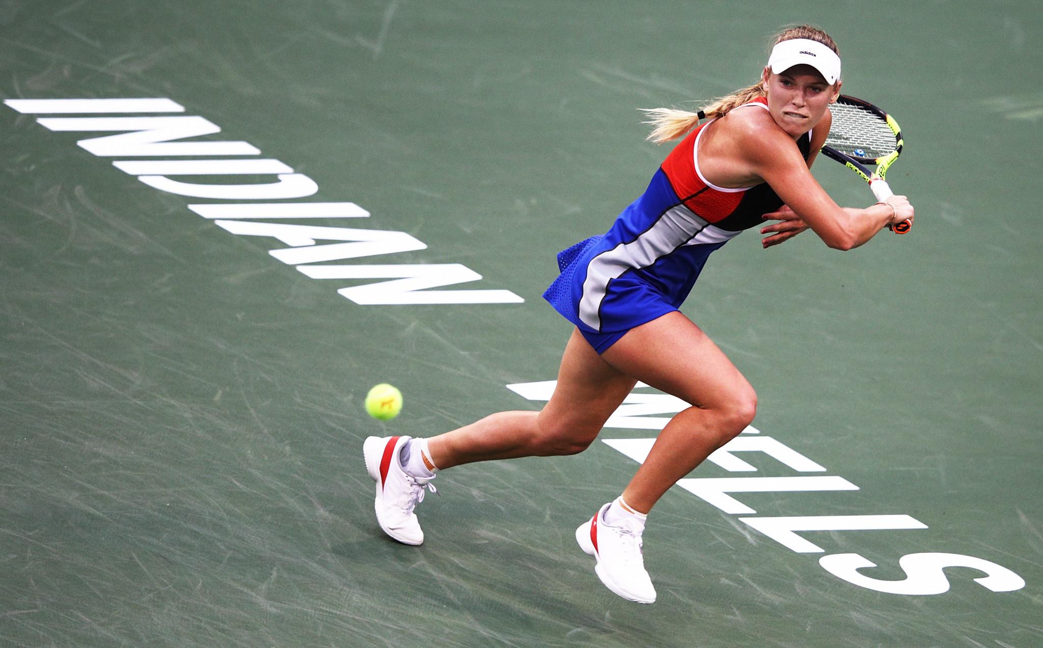Denmark's Australian Open champion Caroline Wozniacki beat Spain's Lara Arruabarrena in the second round