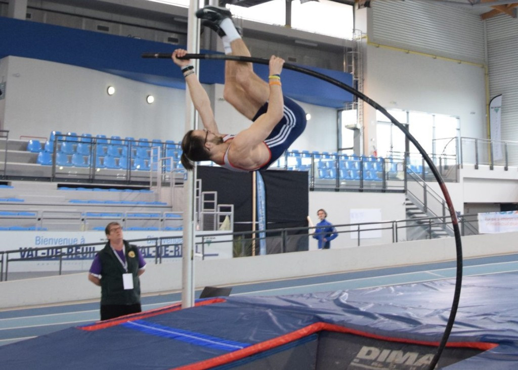 Norway's Bjørn Øyvind Berger achieved a world record in the pole vault at the INAS  Indoor Athletics Championships in Normandy ©INAS