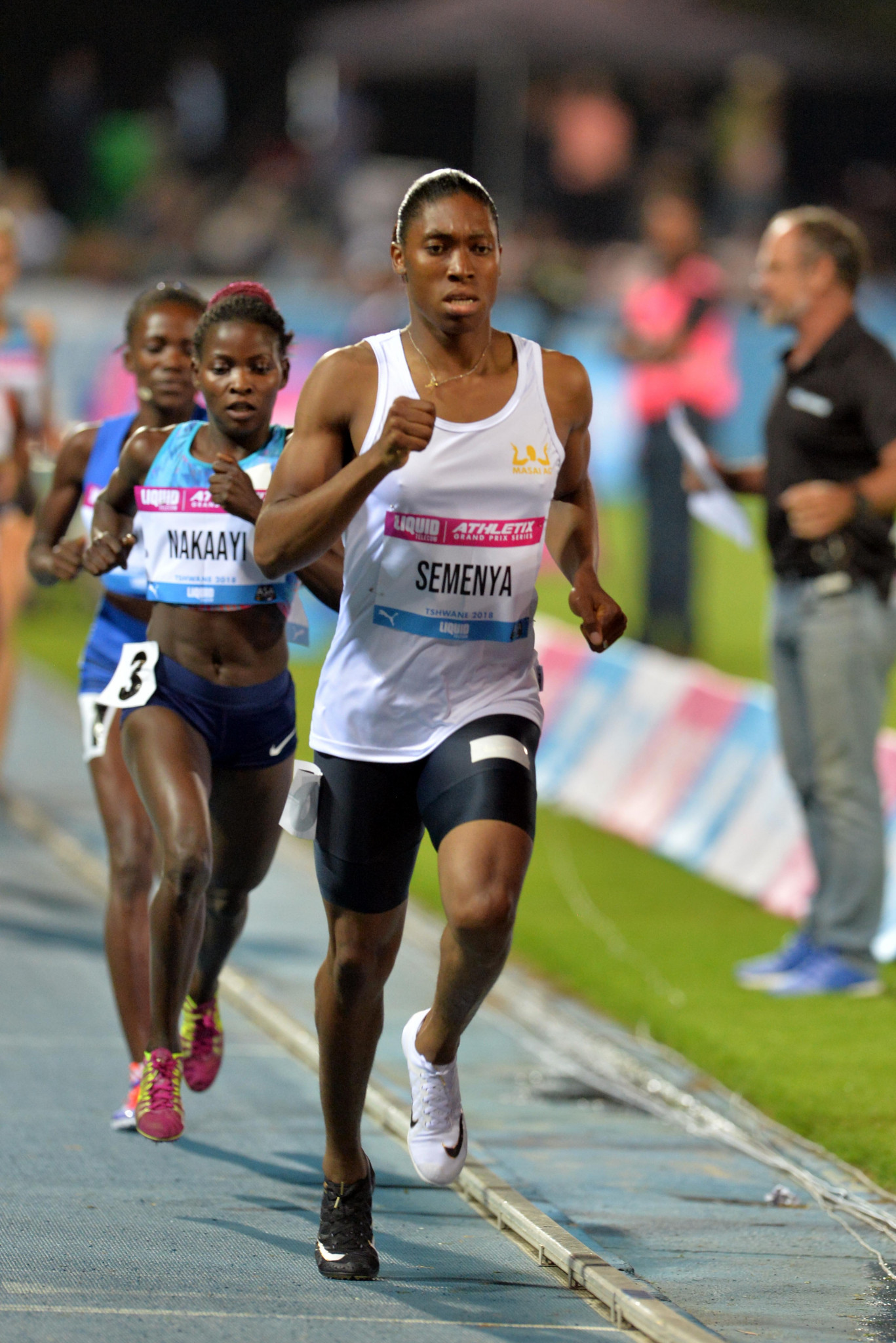 Caster Semenya broke the 35-year-old South African record for 1,000m in Pretoria last week as part of her warm-up for Gold Coast 2018, where she plans to run the 800m and 1500m ©Getty Images
