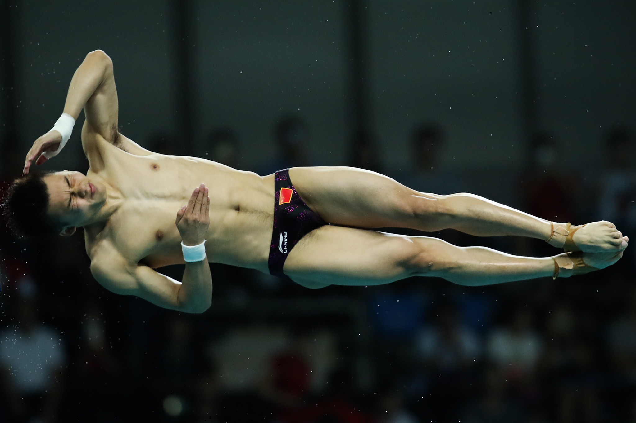 Yang Jian won the men's 10m platform title in Beijing ©Getty Images