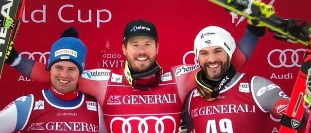 Local hero Jansrud claims victory and overall FIS World Cup super-G title on home slopes of Kvitfjell