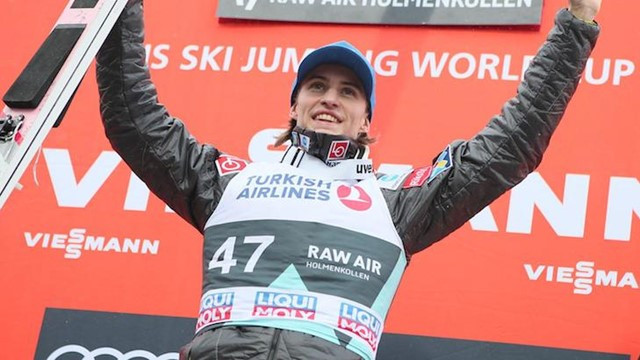 Daniel Ande Tande was another popular home winner at the FIS Ski Jump World Cup in Oslo ©FIS
