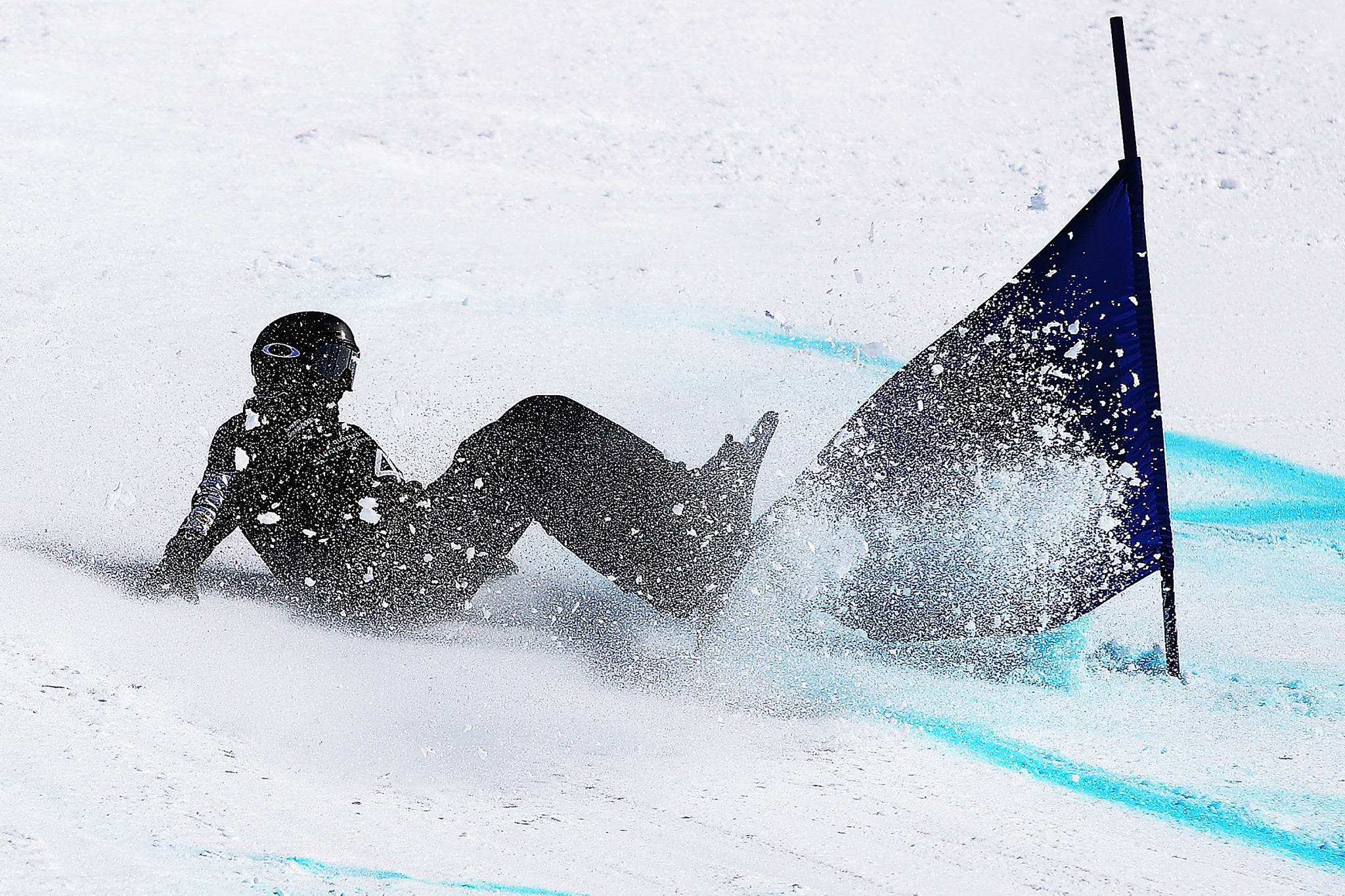 Joany Badenhorst also suffered an injury to her left knee at Sochi 2014 ©Getty Images