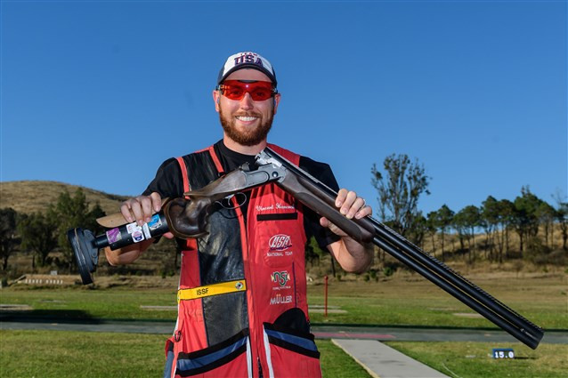 The United States' Vincent Hancock claimed the men's skeet gold medal as action concluded today at the ISSF World Cup in Guadalajara ©ISSF