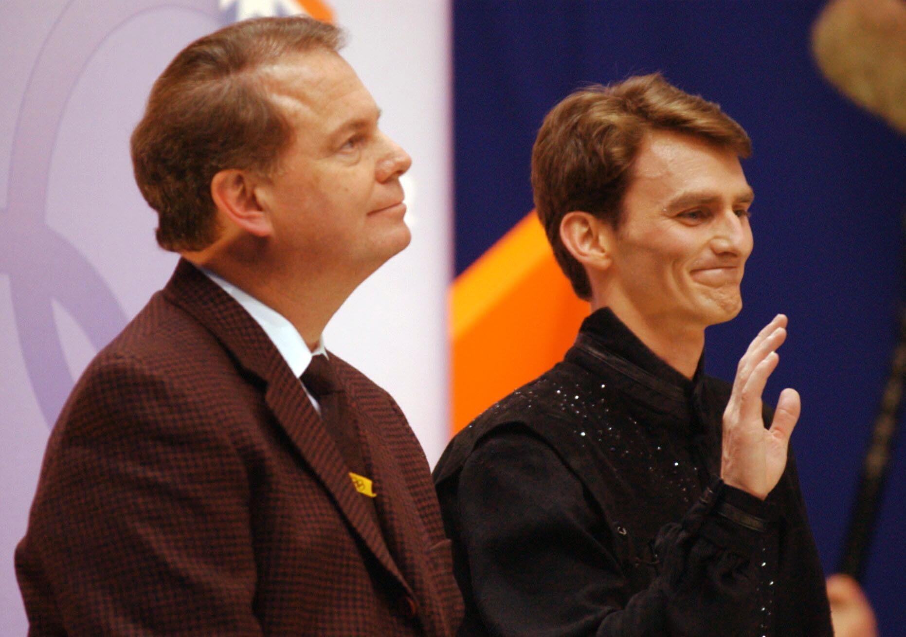 Todd Eldredge, right, also worked with Richard Callaghan, including at the 2002 Winter Olympics in Salt Lake City ©Getty Images
