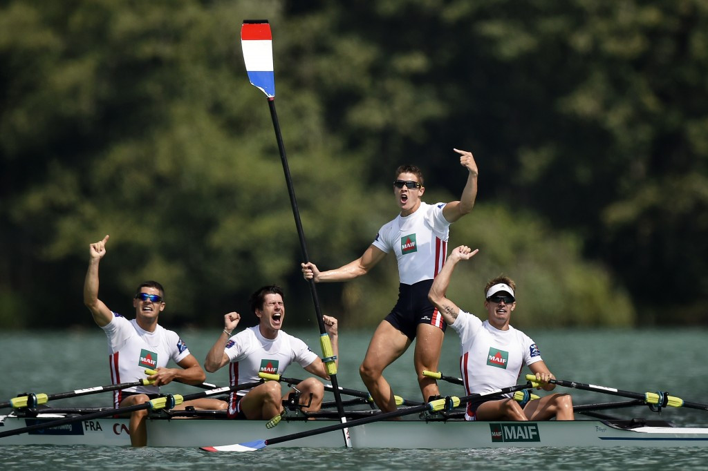 First gold for French hosts at World Rowing Championships as Grainger and Thornley book Rio 2016 slot