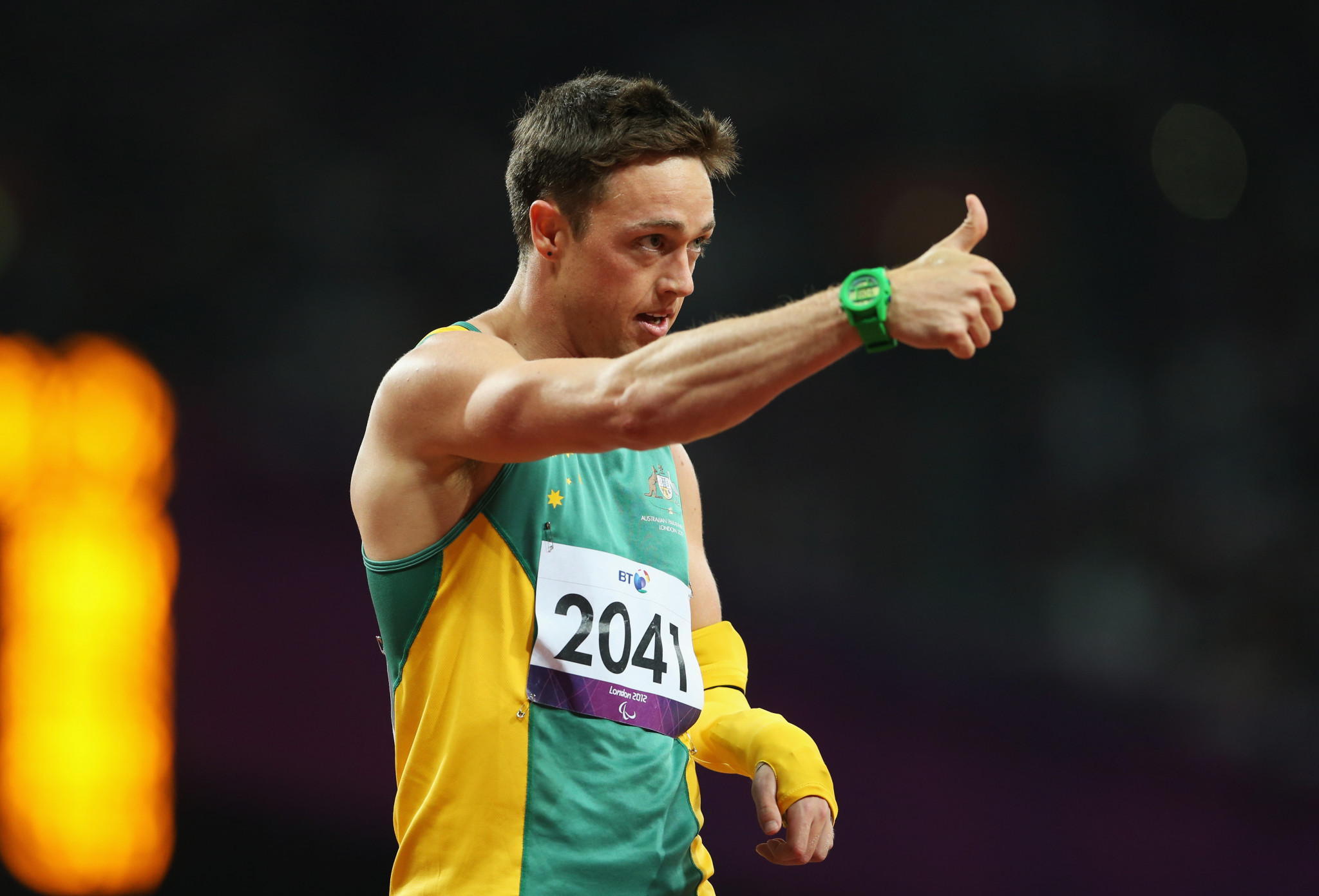 Simon Patmore claimed gold at the London 2012 Paralympics ©Getty Images