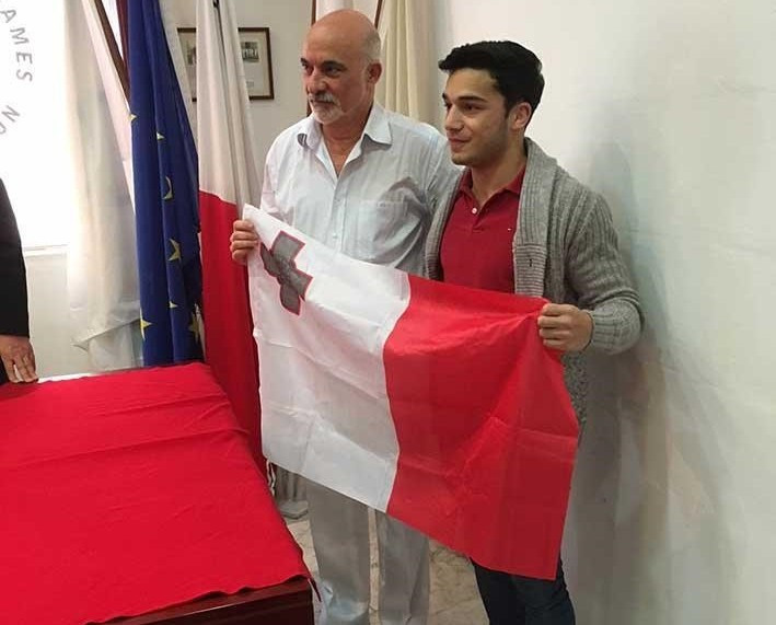 Gary Giordimaina, right, will carry the Maltese flag at the Opening Ceremony of Gold Coast 2018 ©Maltese Olympic Committee