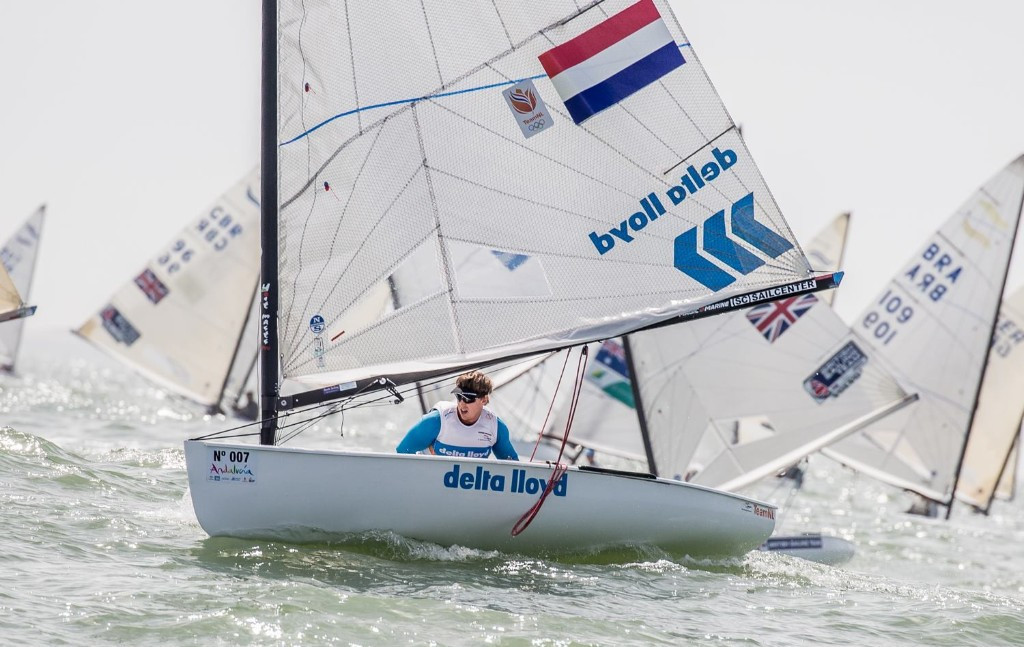 Nicholas Heiner has made a strong start to the European Championships ©Finn Class/Robert Deaves