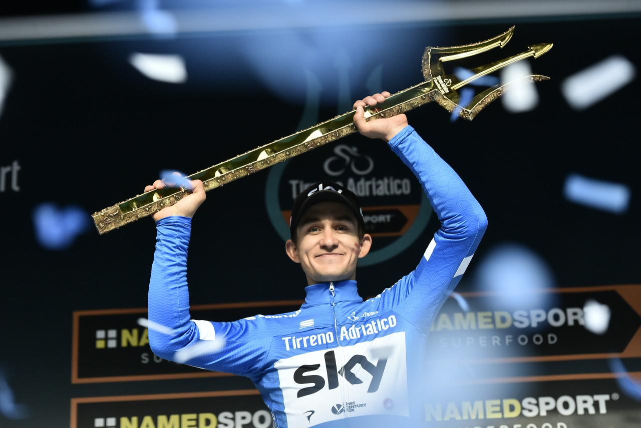 Michal Kwiatkowski won Tirreno-Adriatico after a strong time trial ©LaPresse