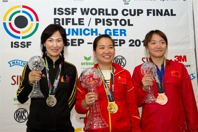 Jingjing Zhang secures second Chinese gold at ISSF Rifle and Pistol World Cup Finals