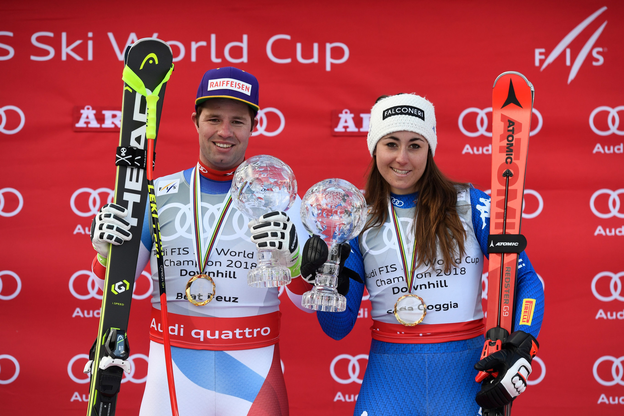 Olympic champ Sofia Goggia captures World Cup downhill title