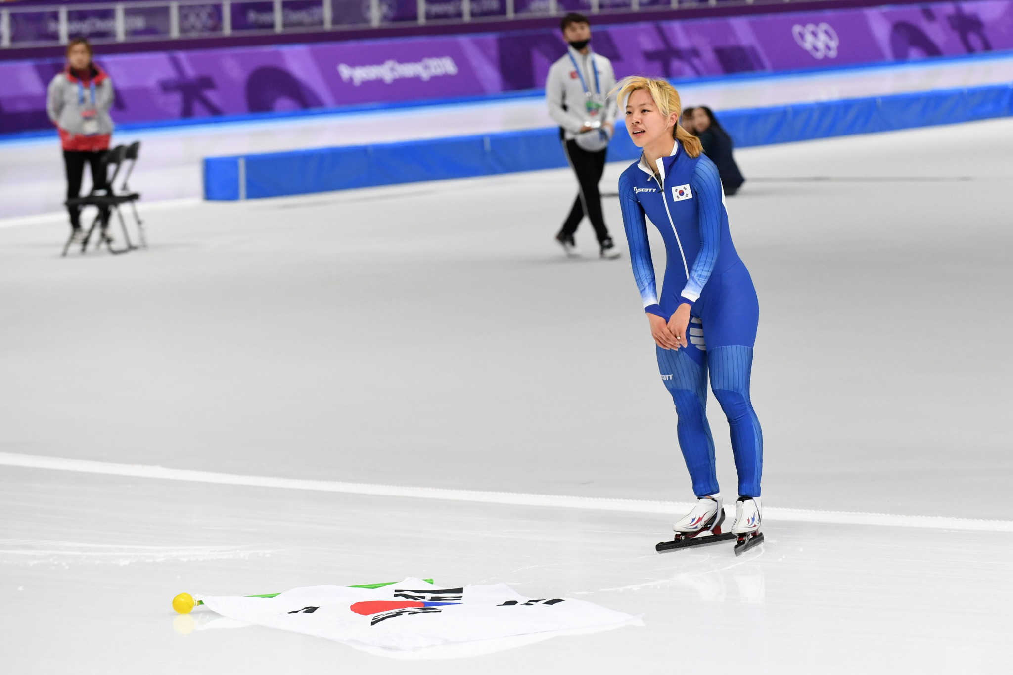 South Korea's Kim Bo-reum went on to win an Olympic silver medal in the mass start following the allegations of bullying made against her and team-mate Park Ji-woo 
