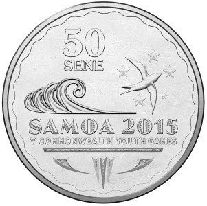 A commemorative coin for the 2015 Commonwealth Youth Games has been released ©Samoa Government