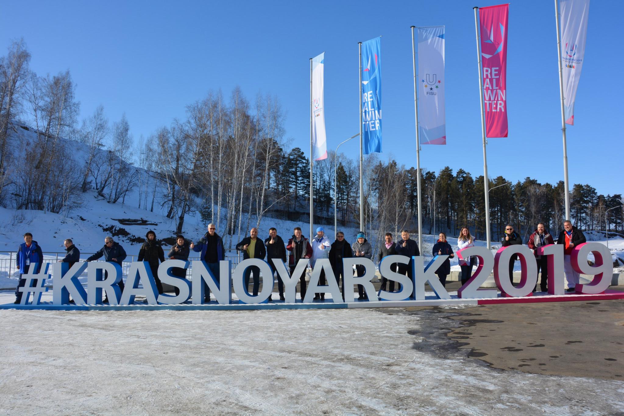 FISU officials inspect Krasnoyarsk 2019 venues