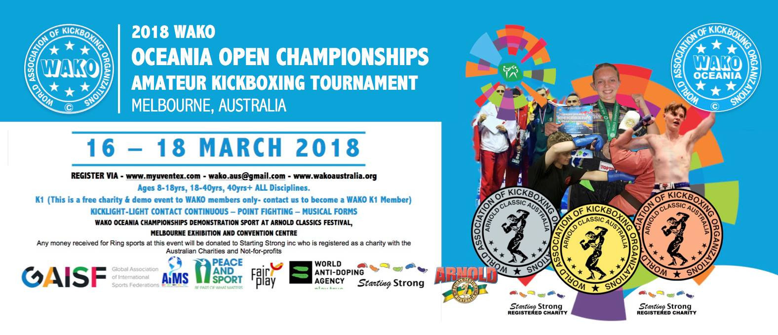 Second Oceania Kickboxing Championships set to begin in Melbourne