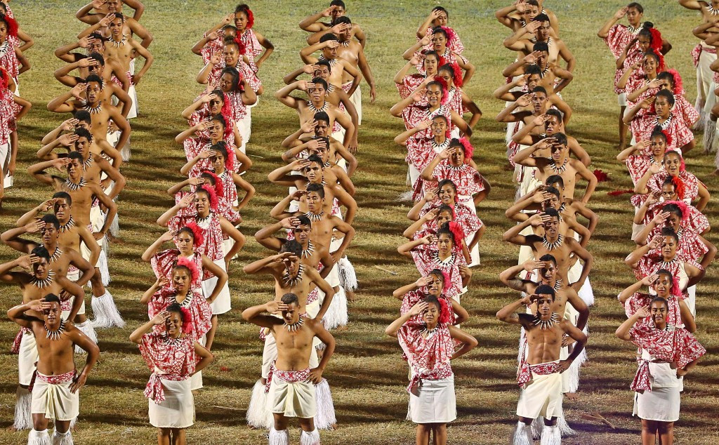 Samoan dancers performing during the Opening Ceremony ©Getty Images