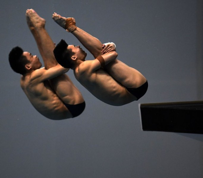 China celebrate four golds on opening day of FINA Diving World Series in Fuji