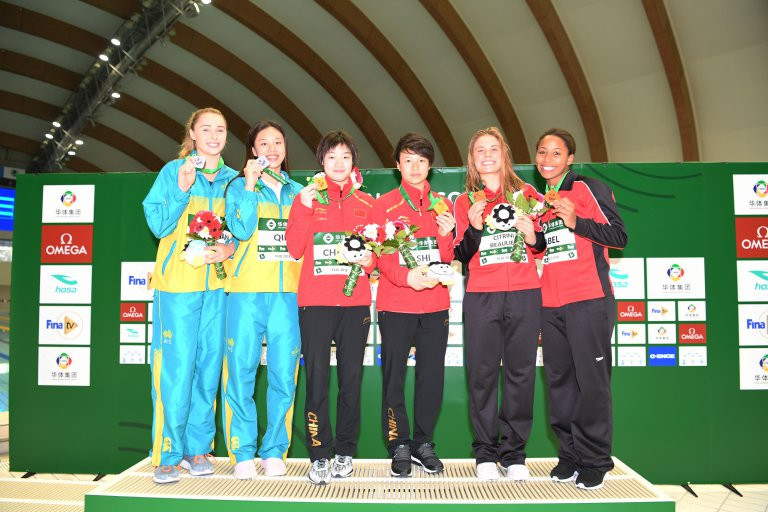 Chang Yani and Shi Tingmao won the women's 3m synchronised springboard event ©FINA