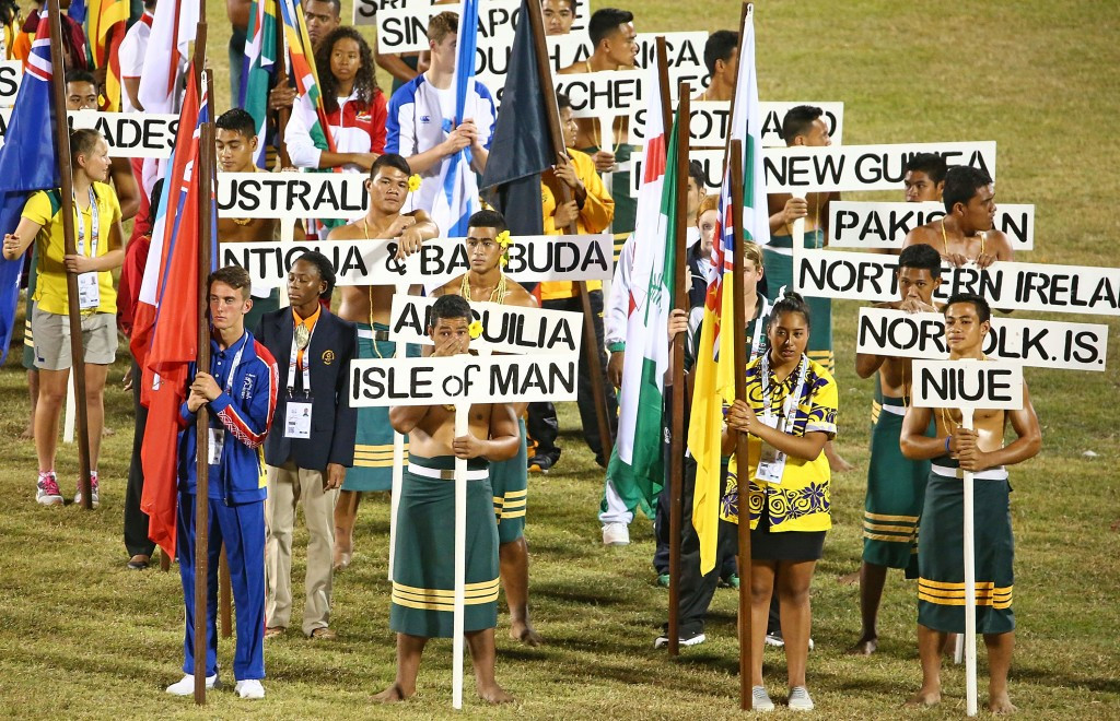 Young Flagbearers from across the Commonwealth participated in the Opening Ceremony ©Getty Images