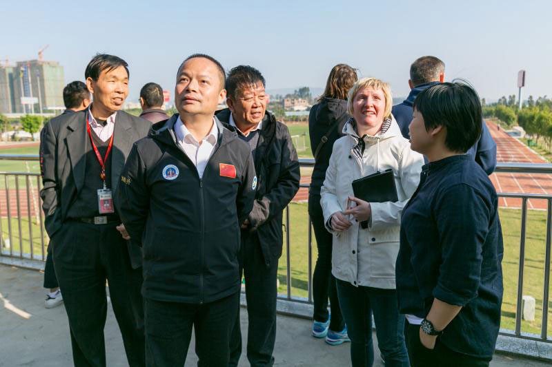 FISU delegation inspect preparations for 2019 University World Cup Football tournament in Jinjiang