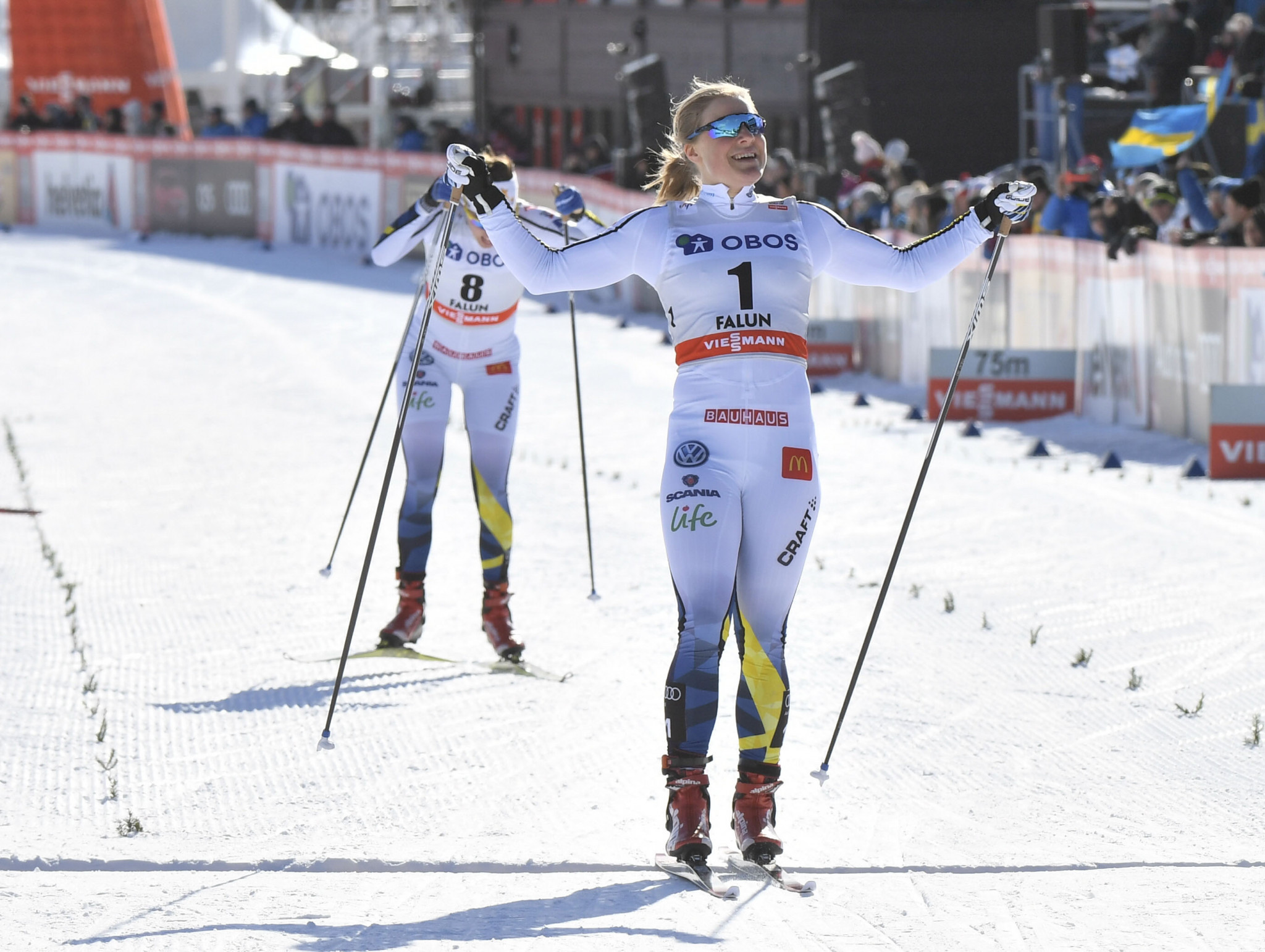 Falk leads Swedish double at FIS Cross Country World Cup as Falla wins sprint title