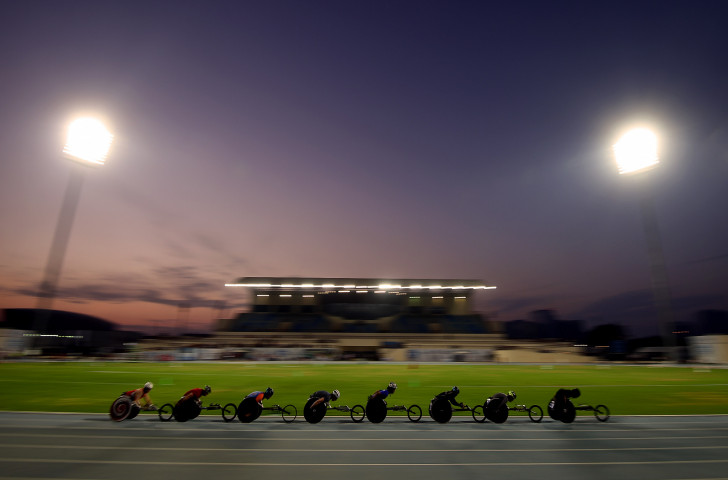 Wheelchair racing at the World Para Athletics Grand Prix in Dubai ©Getty Images