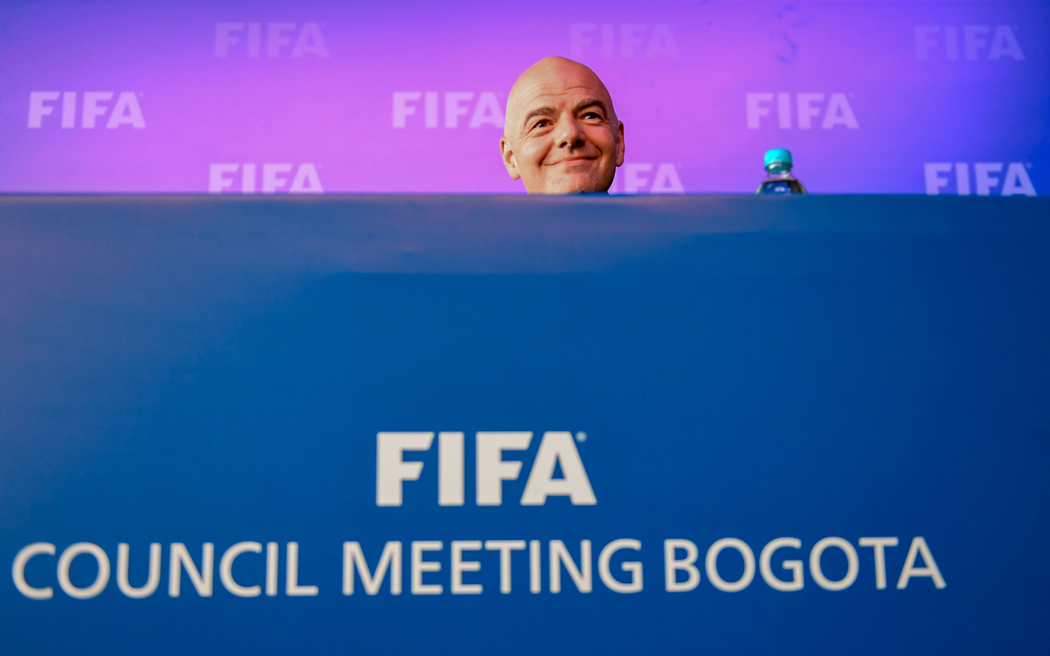 FIFA President Gianni Infantino announced the news in Bogota ©Getty Images