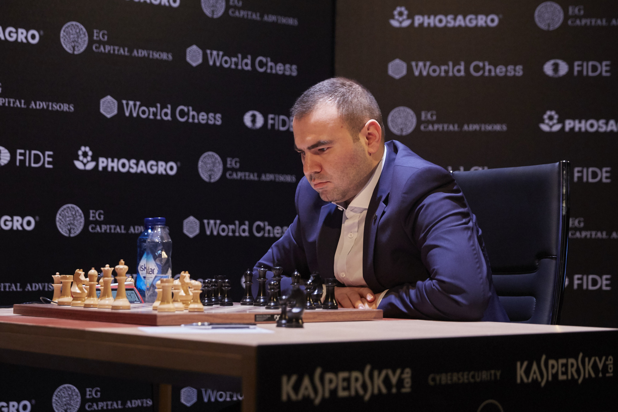 Shakhriyar Mamedyarov of Azerbaijan has moved up to joint leadership of the FIDE Candidates Tournament as it approaches the halfway point in Berlin ©Getty Images