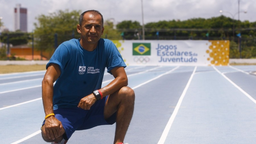 Student athletes competing at Brazilian Olympic Committee-organised Youth School Games