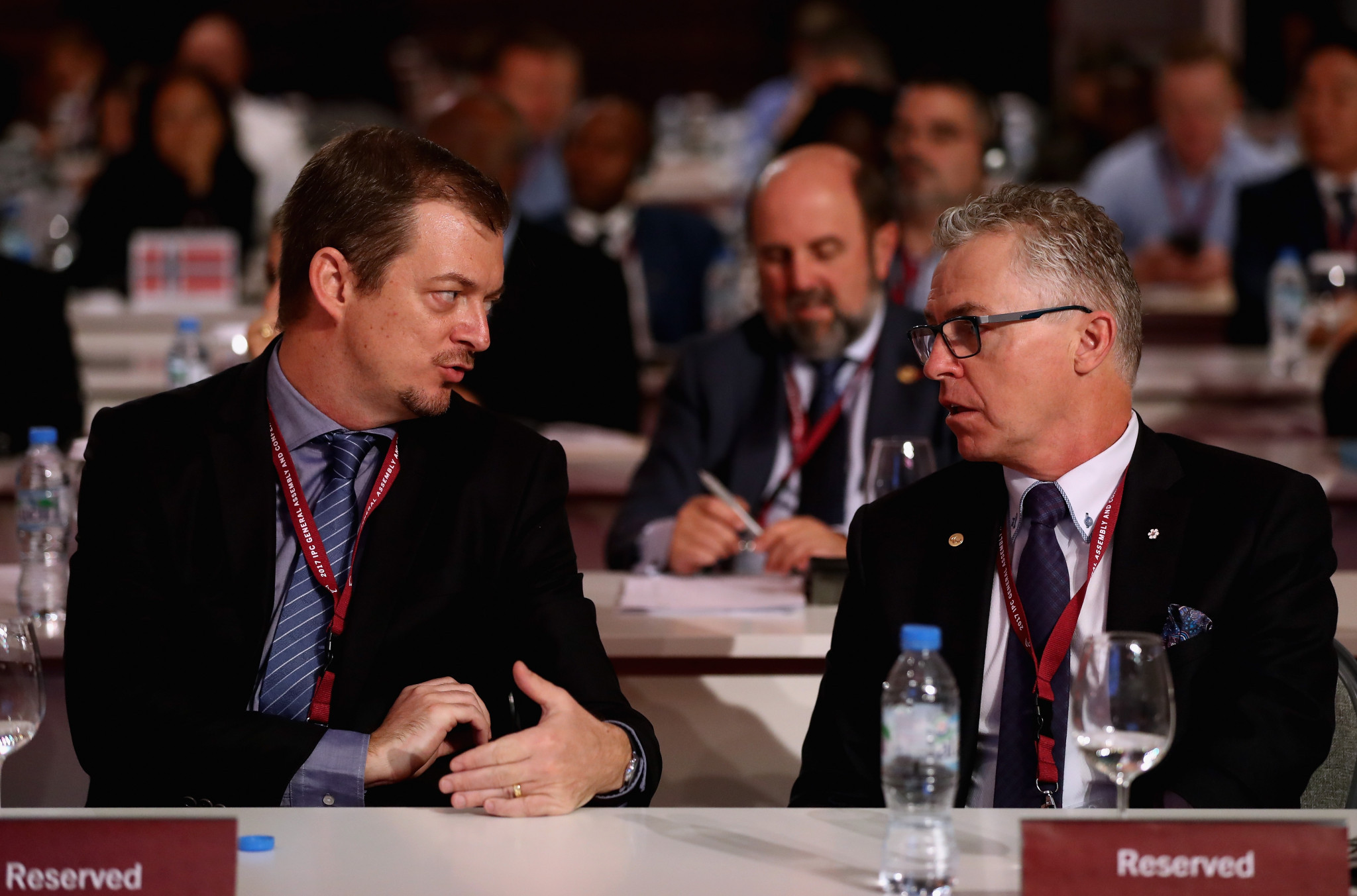 Andrew Parsons, left, beat Patrick Jarvis, right, to the IPC Presidency in September of last year ©Getty Images